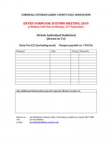 CVLCGA Entry Form Autumn 2019