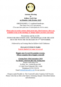 Autumn Meeting Flyer 2019