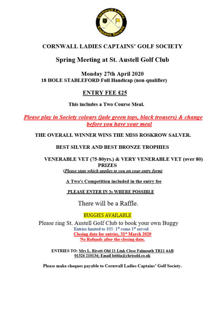 Capts Soc Spring Meeting Flyer 2020