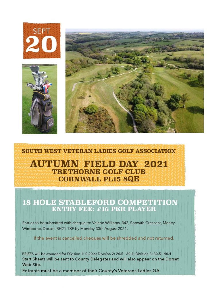 SW Vets Poster Autumn Field Day 2021